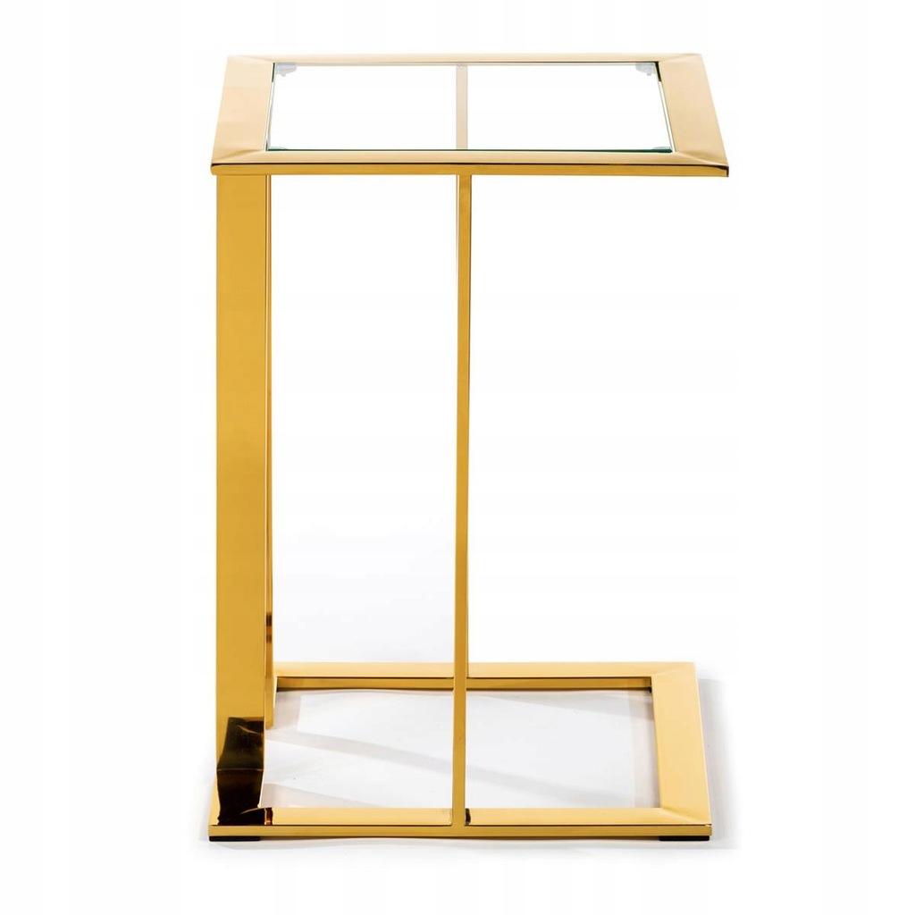 Biurowy stolik stoliczek pomocniczy złoty GLAMOUR