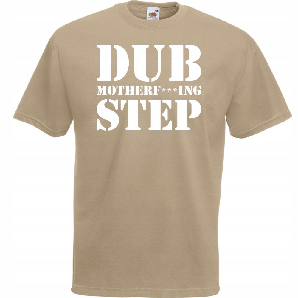 Koszulka z nadrukiem dubstep dub S khaki