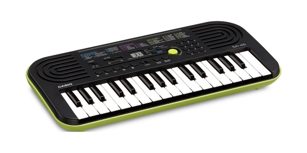 Casio SA-46 Keyboard do nauki dla dzieci 5 lat gw.