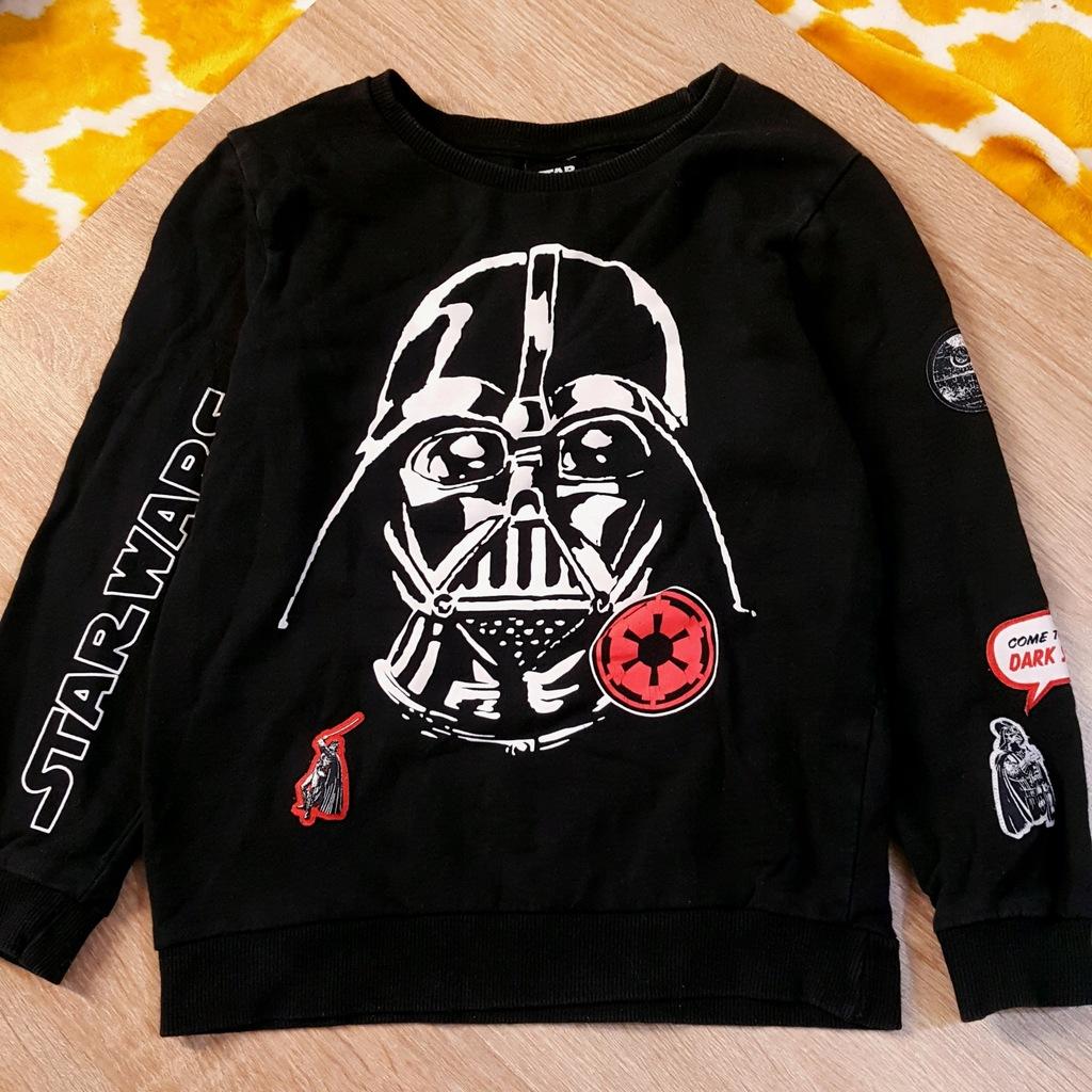 czarna dresowa bluza STAR WARS Darth Vader 7 lat