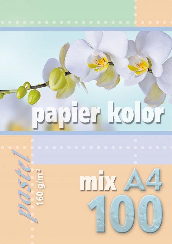PAPIER KSERO KOLOR A4/100 160G PASTEL MIX KRESKA