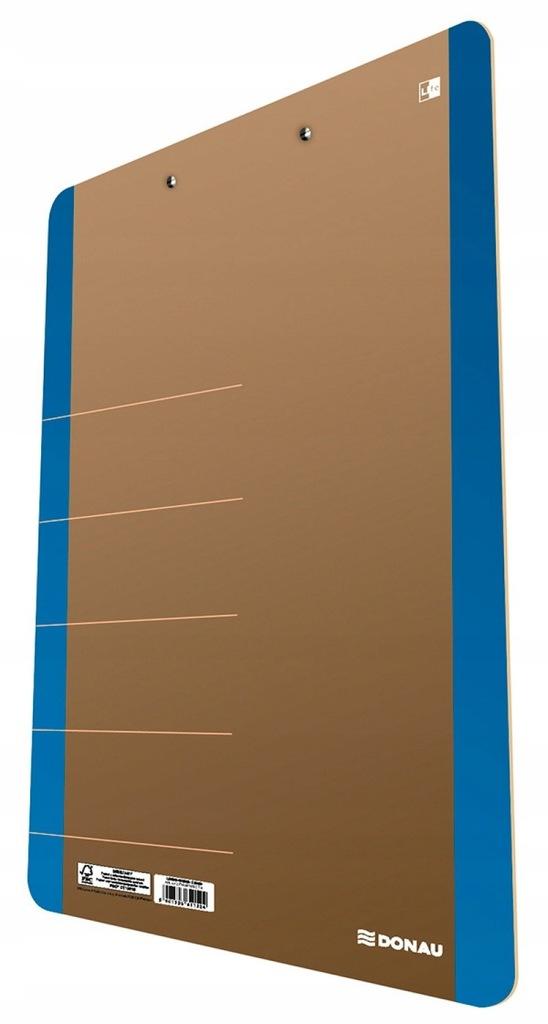 Clipboard DONAU Life karton, A4 z klipsem, nieb.