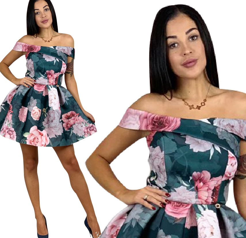 Efektowna Sukienka Hiszpanka W Kwiaty Na Wesele 36 8628742609 Oficjalne Archiwum Allegro