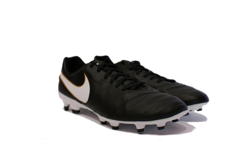 Nike Tiempo Genio Ii Fg Korki Lanki Czarny Biały Metallic