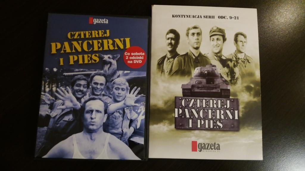 CZTEREJ PANCERNI I PIES serial na 10 płytach DVD