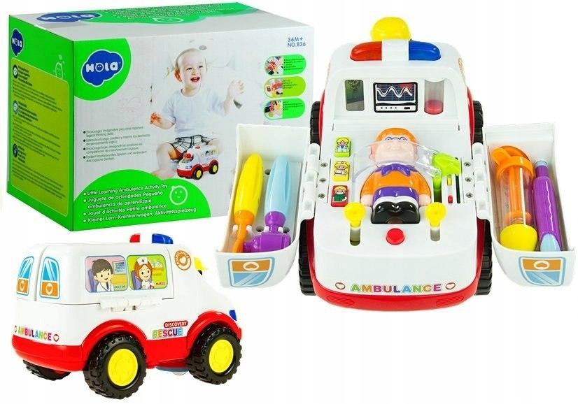 Auto na Baterie Ambulans + Pacjent Karetka Lekarz