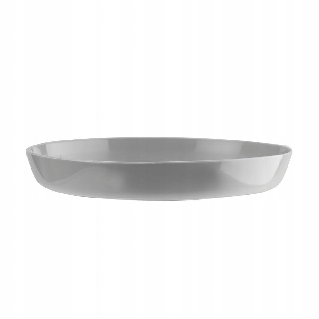 PODSTAWKA 13 cm Cristal pod doniczkę szary szara