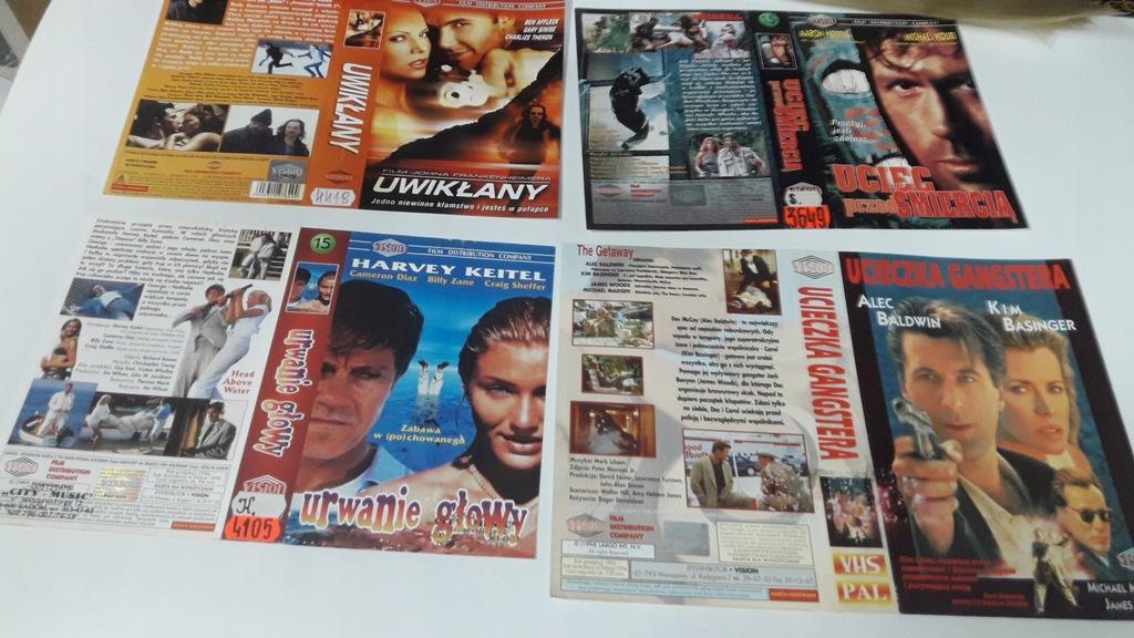 A-0939 pakiet 8 okładek kaset vhs