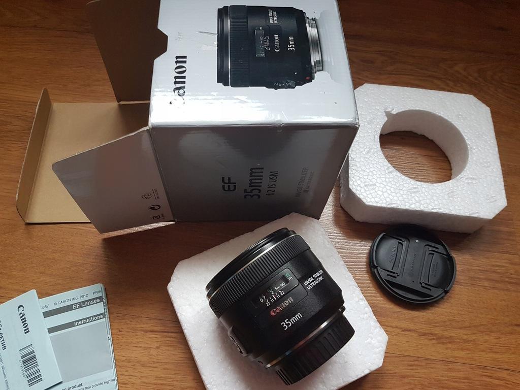 Canon EF 35mm 2.0 IS USM Komplet