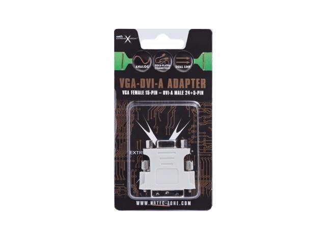 Adapter DVI-A(M)(24+5) DUAL LINK-VGA(15F) Natec Ex