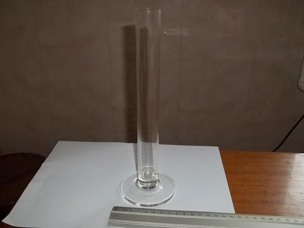 szklany wazon rurka na jeden kwiat 25 cm