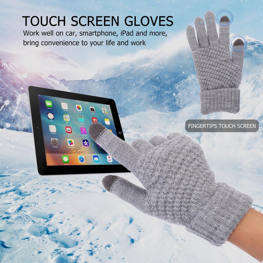 Zimowe rękawiczki utrzymujące ciepło Rękawiczki z