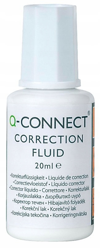 Korektor Q-CONNECT z pędzelkiem 20ml. KF10507