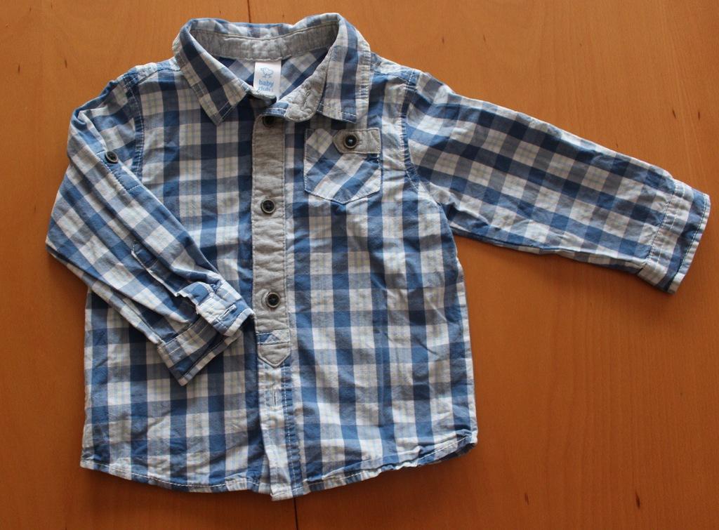 C&A Koszula chłopięca niebieska elegancka 80