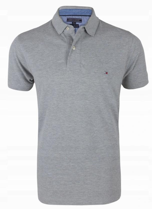Koszulka Polo Tommy Hilfiger Szara Rozmiar XXL