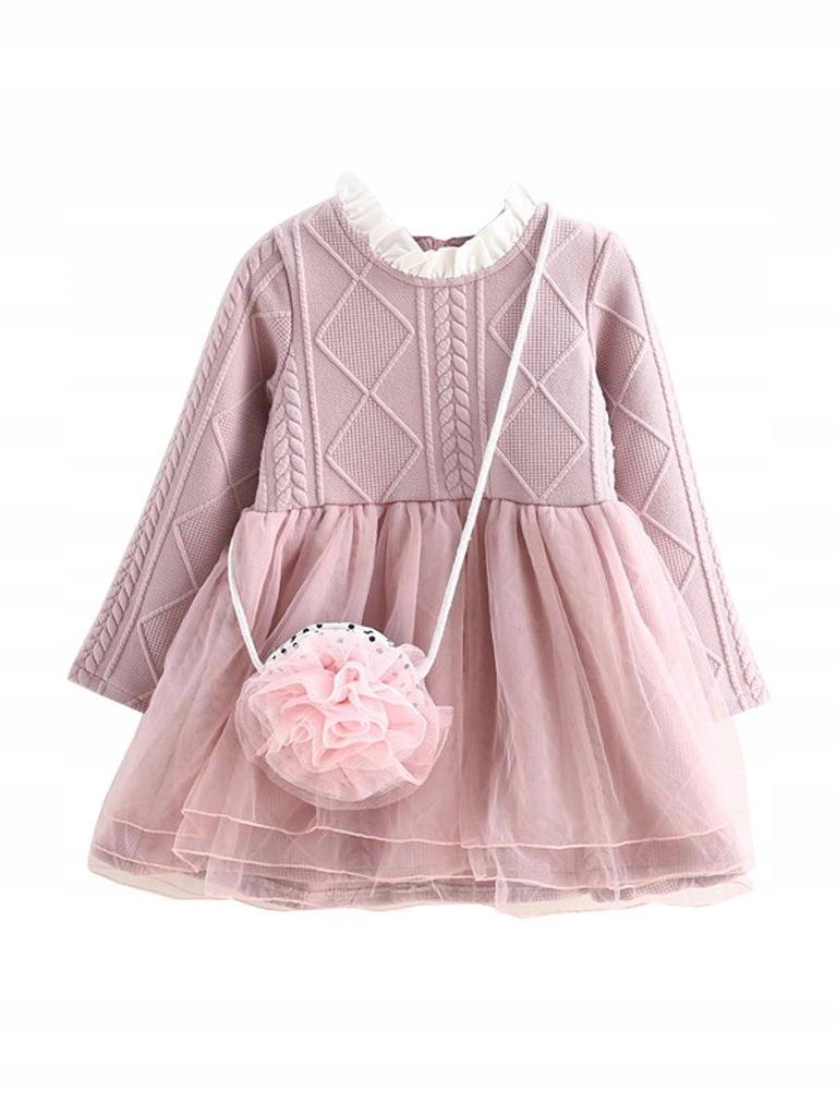Modna różowa bawełniana sukieneczka !!