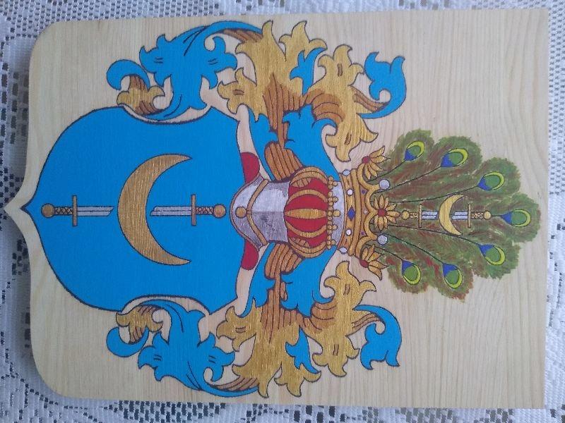 HERB SZLACHECKI TRZASKA, 27 x 39 cm (wzór)