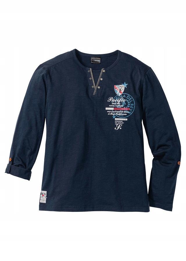 Shirt z długimi wywija niebieski 44/46 (S) 921876