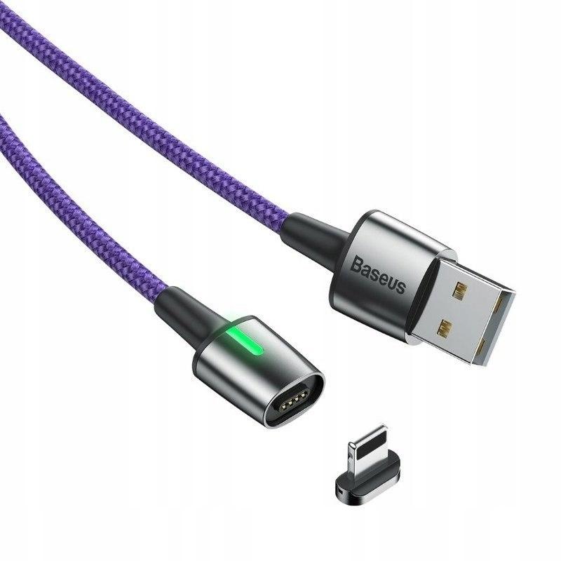 Kabel magnetyczny Lightning Baseus Zinc 2.4A 1m (f