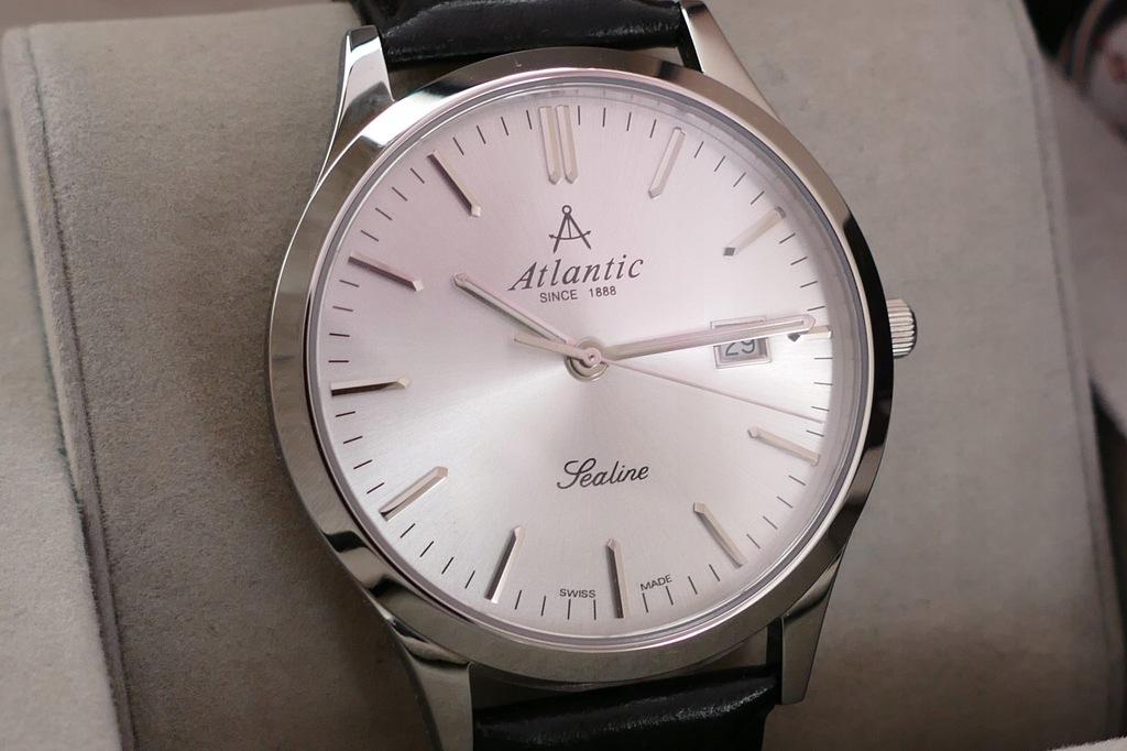 Duży elegancki Atlantic Sealine Szafir + Stal