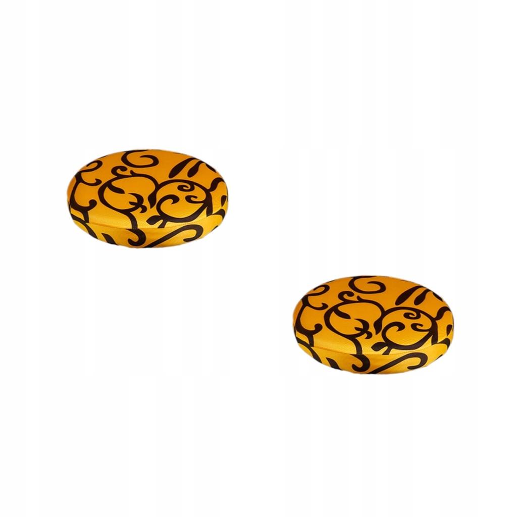Pokrowiec na stołek barowy - Żółty