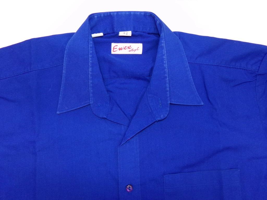 857 Koszula męska EWEX długi rękaw bawełna roz. 42  h7Zs3