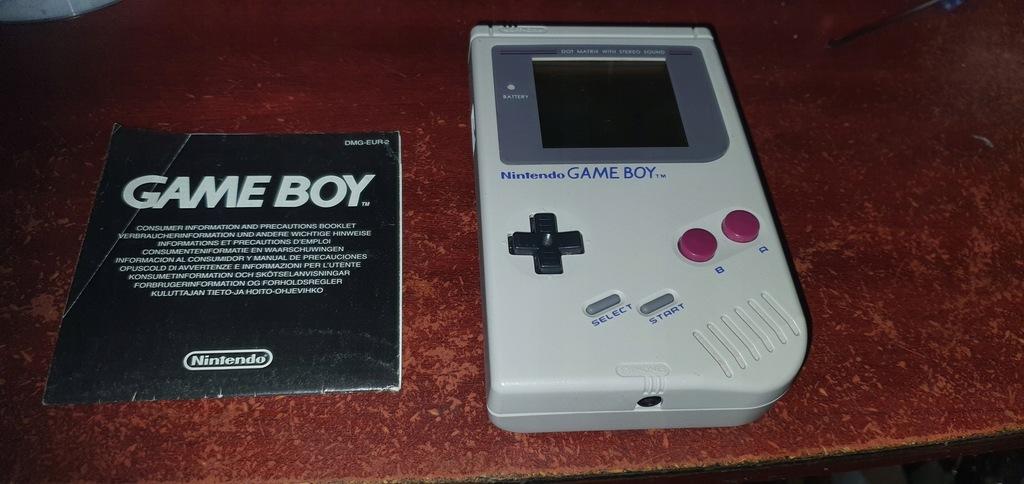Game Boy Classic DMG-01 + instrukcja Okazja!