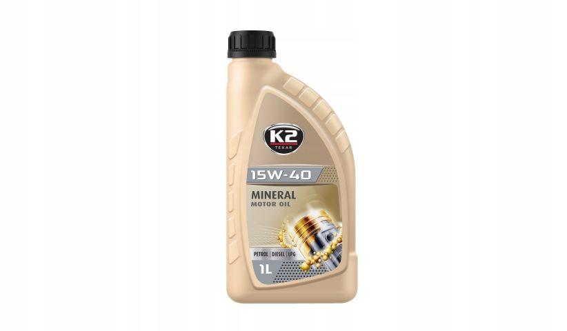 K2 TEXAR Olej silnikowy 15W40 XL 1L BENZ LPG DIESE