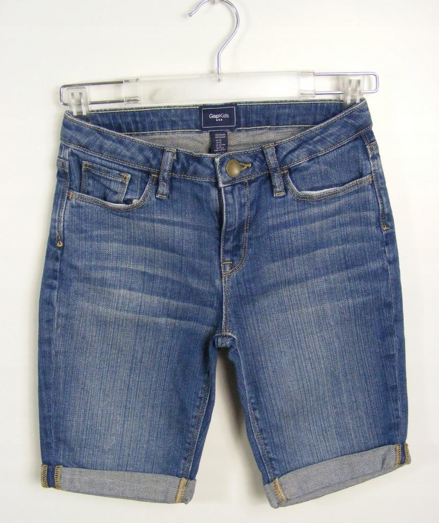 GAP elastyczne jeansowe spodenki 150 cm