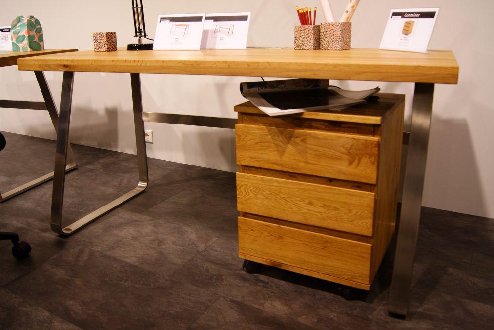 Biurko z blatem z drewna dębowego Bruno II 7276839935