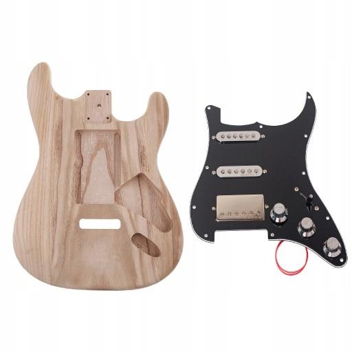 korpus gitary elektrycznej z litego drewna
