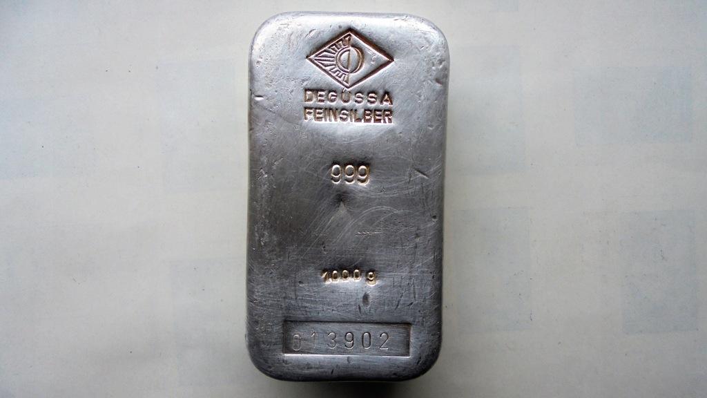 Degussa 1000 gram/1 kilogram srebra próby 999