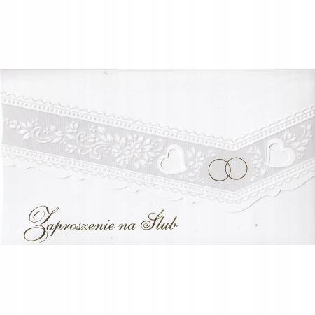 Zaproszenie na Ślub+ koperta Ś16