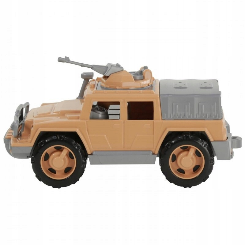 Samochód Jeep Obrońca Safari z karabinem Wader Qua