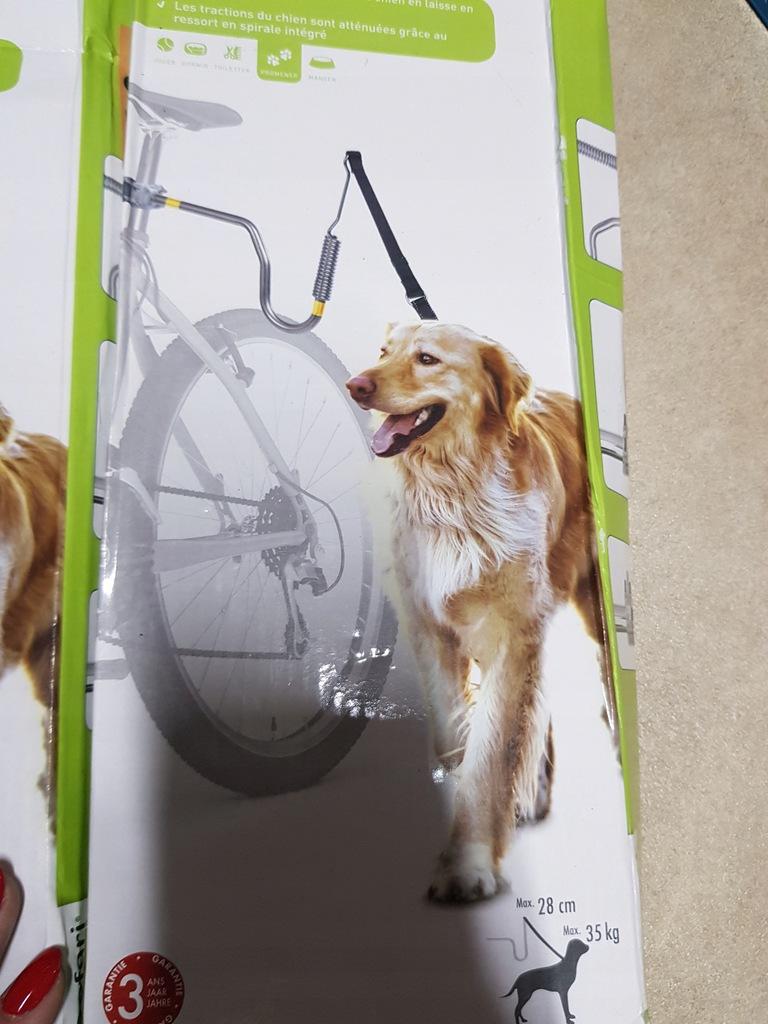 pret dystansowy dla psa na rower