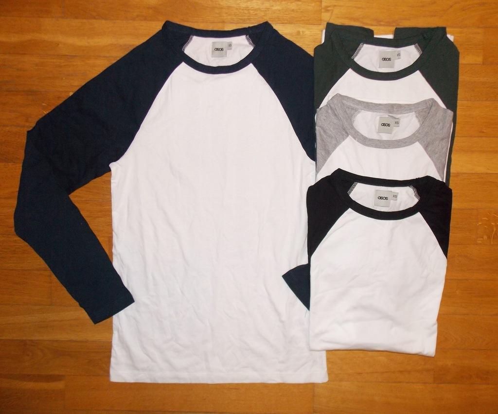 T-SHIRT koszulka biała ASOS 4 sztuki pack XS
