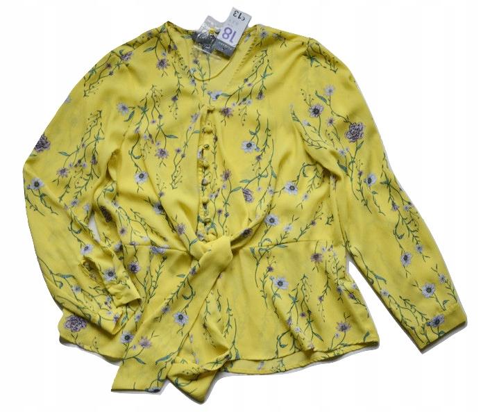 Bluzka żółta kwiaty elegancka primark 44/46