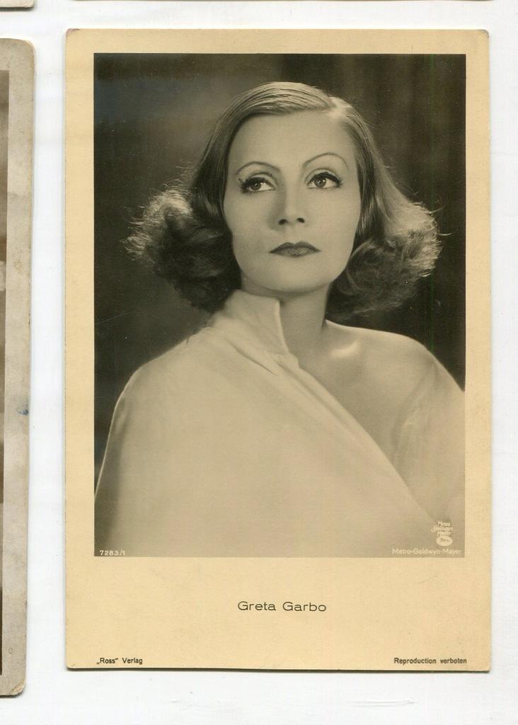 Greta Garbo Kino Film Aktorka Foto Pocztówka 54