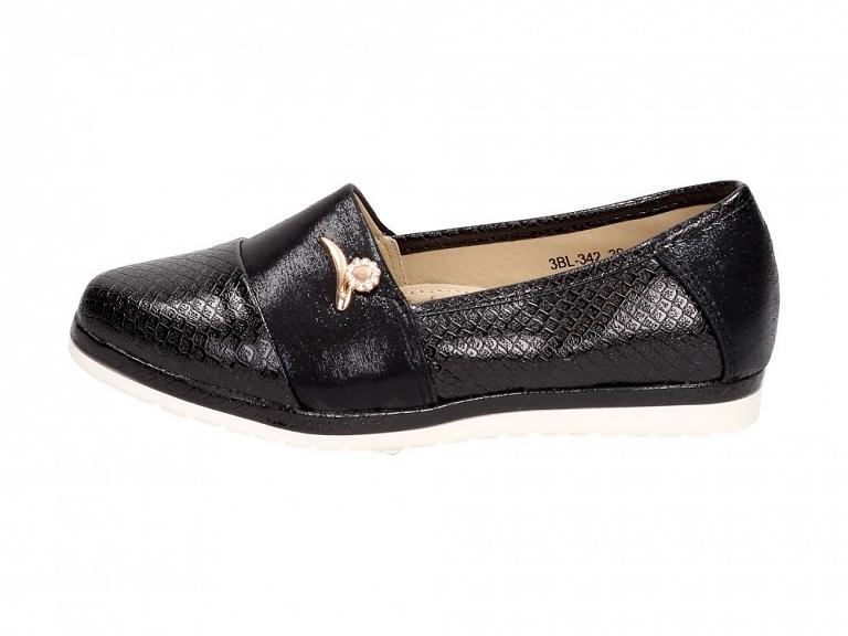 Czarne buty dziecięce balerinki BADOXX 342BK r26