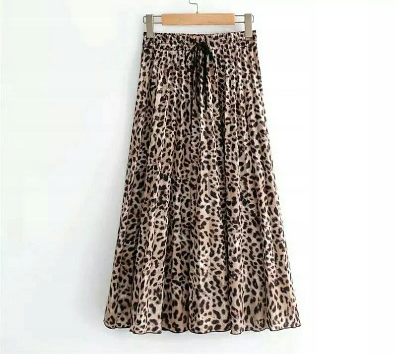 Spódnica Zara cętki panterka plisowana plisy S