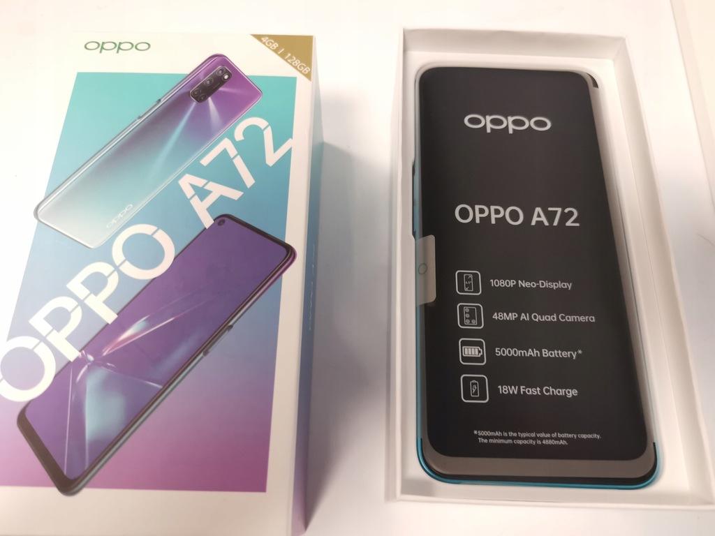 Oppo A72 4 GB RAM/128GB Komplet Kilkudniowy GWAR !