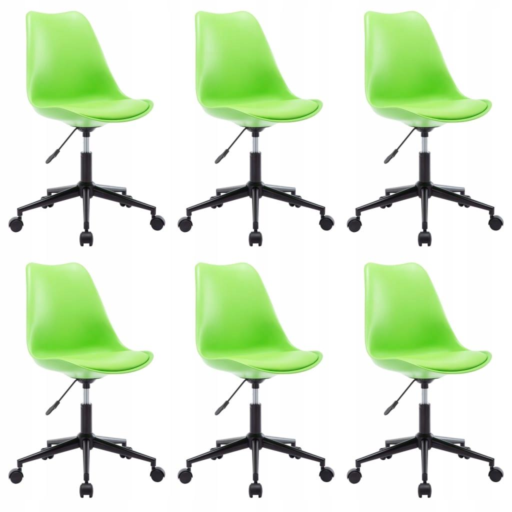 vidaXL Obrotowe krzesła jadalniane, 6 szt., zielon