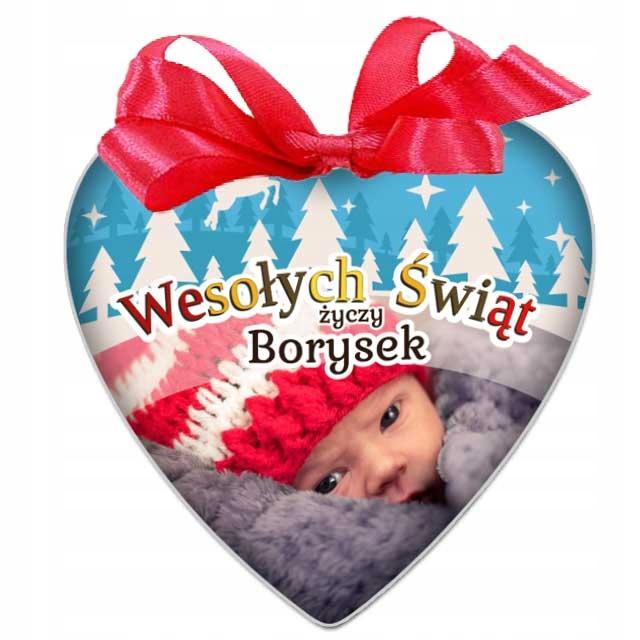 BOMBKA ze zdjęciem Serce na prezent Wigilia Święta