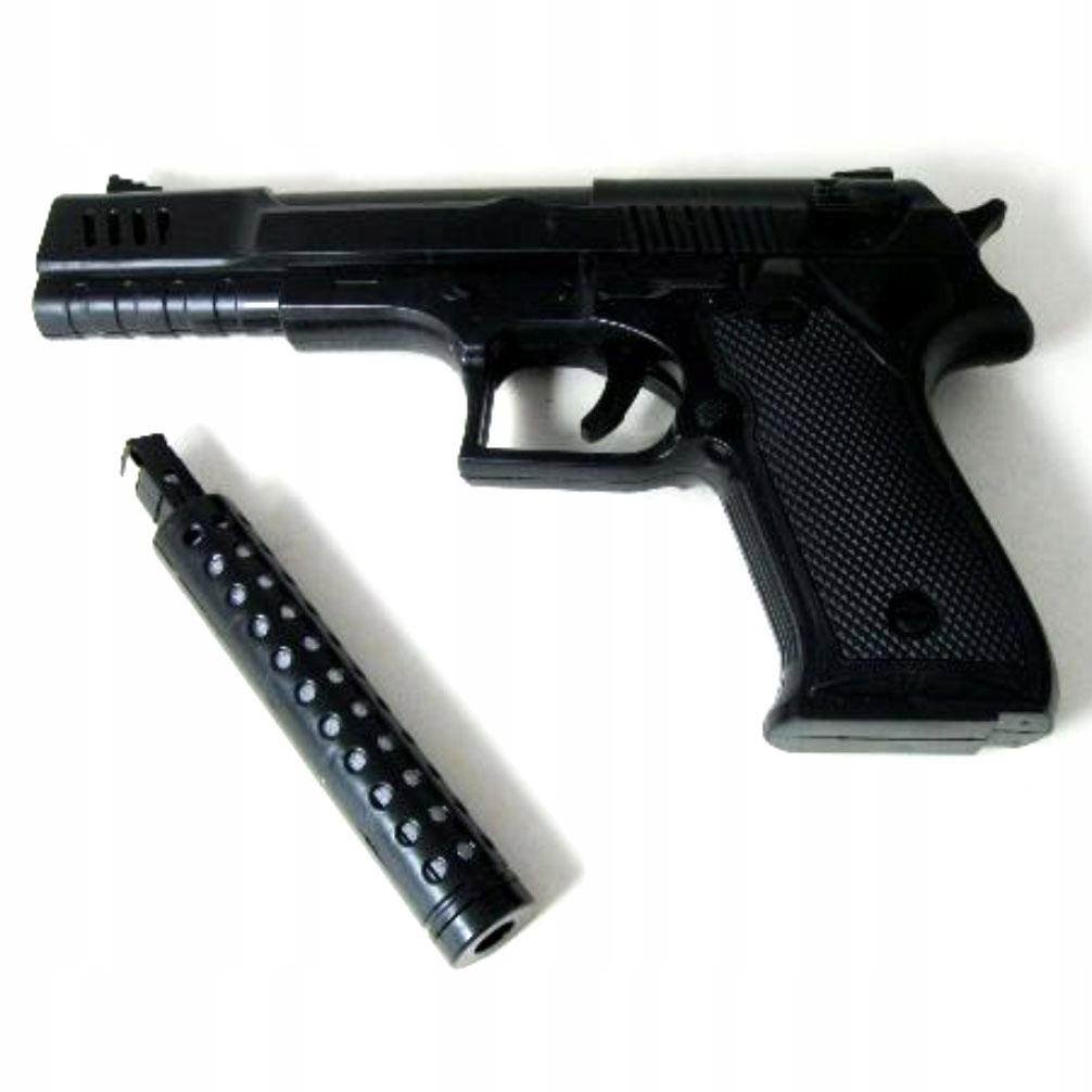 Pistolet Gangstera z tłumikiem z dźwiękiem