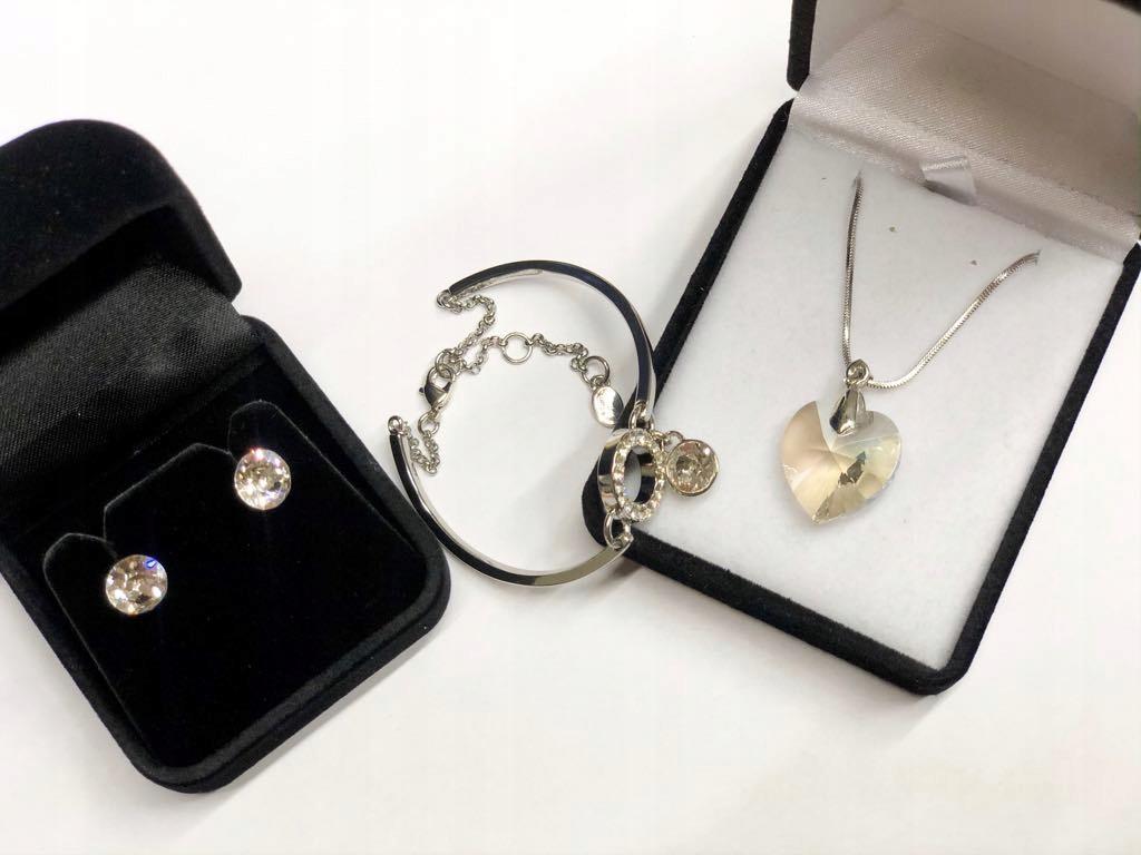 Zestaw biżuterii z kryształami Svarowskiego