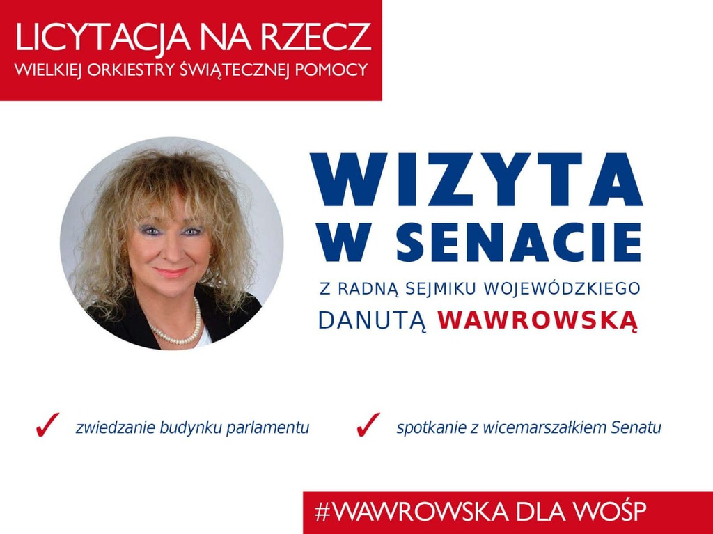 Voucher - wizyta w Senacie z radną SW D. Wawrowską