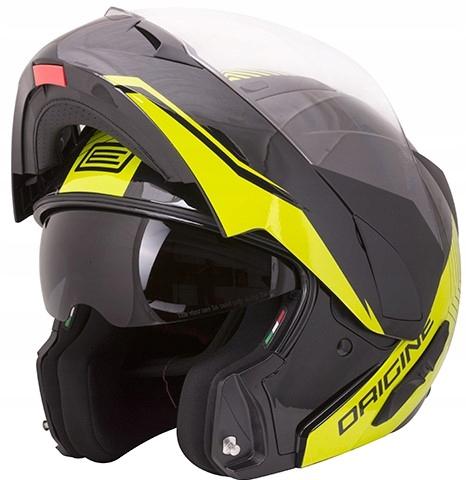 Kask Motocyklowy Szczękowy ORIGINE Riviera black L
