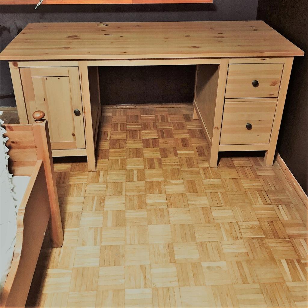 Biurko drewniane IKEA HEMNES, JAK NOWE