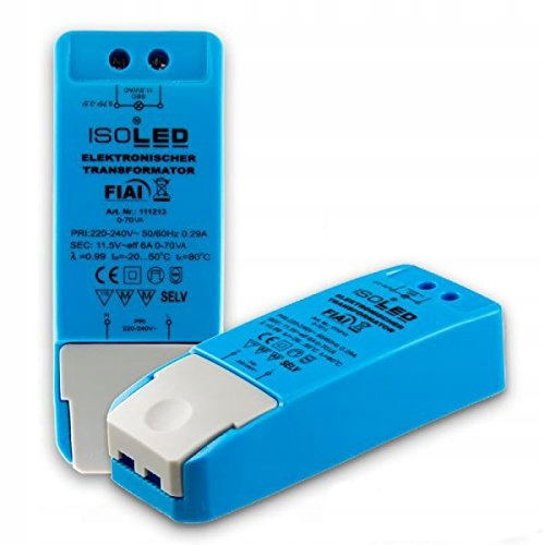 TRANSFORMATOR ISOLICHT 34078 LED NIEBIESKI 11.5 V