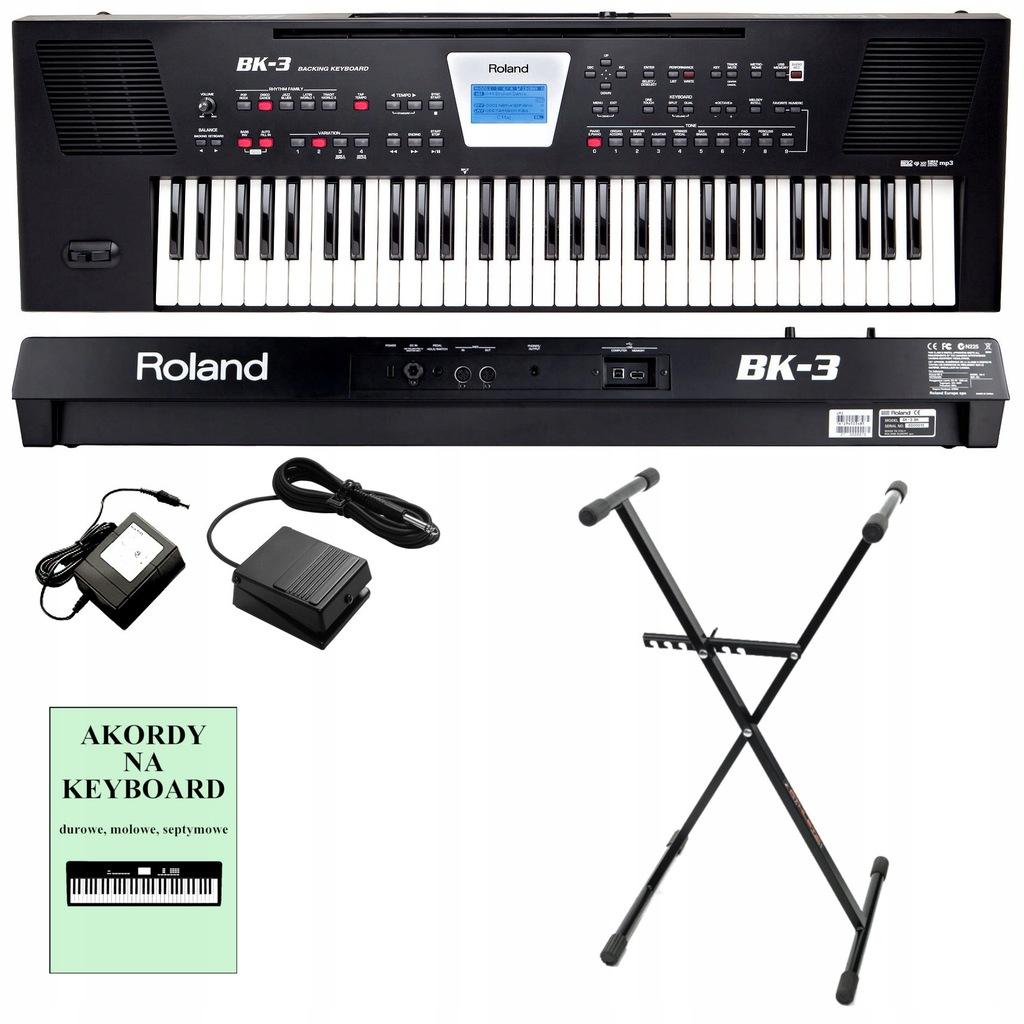 ROLAND BK-3 Zaawansowany Keyboard + Pedał + Statyw